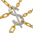 The dollar hangs on chains — Stock Photo #3870664