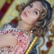 Стоковое фото: Portrait sexual girl in gown