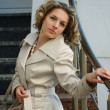 Стоковое фото: Beautiful and sexual girl in coat