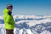 Man on ski resort — Stock Photo
