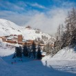 View on alpine skiing resort — Stock Photo