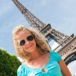 Happy woman in Paris — Stock Photo #3502444