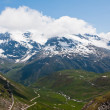 Mountains and Valley. French Alps - Stockfoto