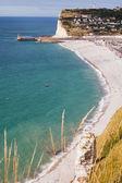 Playa de fecamp, francia — Foto de Stock