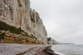 Cliffs on the coast. Mist — Stock Photo