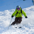 Off-piste skiing - Stock Photo