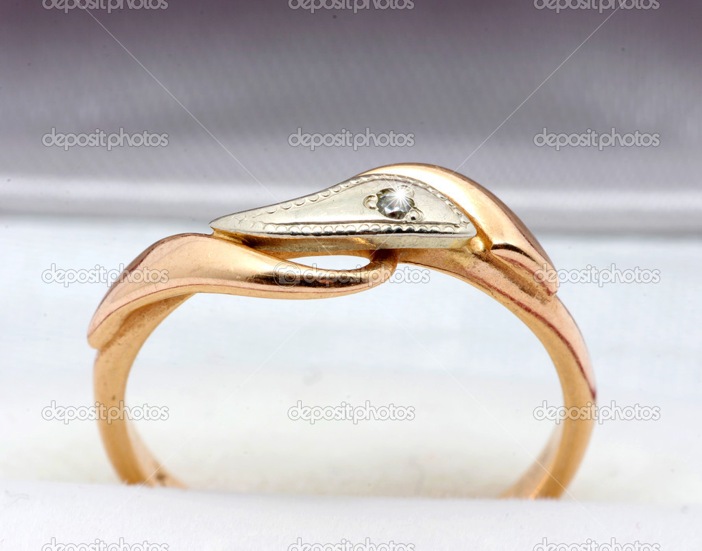 Golden Ring Isolated on The