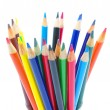 Royalty-Free Stock Photo: Pencils  on a white