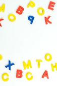 Plastic letters — Stock Photo