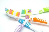 красочные зубные щетки — Стоковое фото
