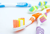 Colourful toothbrushes — Stock Photo