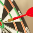 Dart board with red dart — Foto de stock #3859430