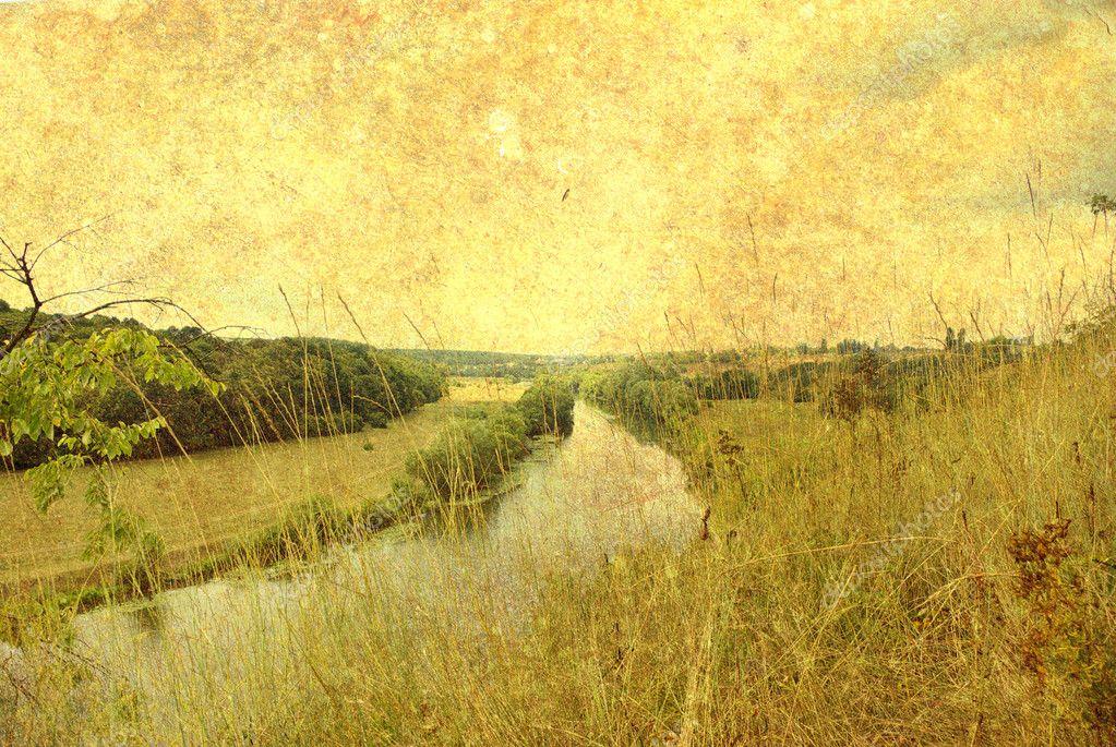 Vintage landscape photo — Stock Photo © volokhatiuk #2859472
