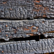 Burned wooden wall — Stock Photo