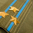 Stok fotoğraf: Shoulder strap colonel of RussiAirborne Troops