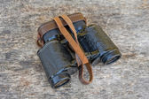 Old army field binocular — Stock Photo