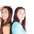 Two brunettes — Stock Photo