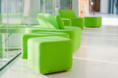 Green armchairs — Stock Photo
