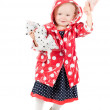 Stock Photo: Little girl in studio