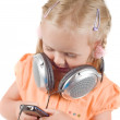 Little girl with headphones — Stock Photo #3694106