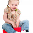 Little girl in studio — Stock Photo