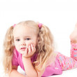 Little cute girl in studio — Stock Photo #3892601