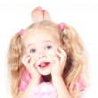 Little cute girl in studio — Stock Photo