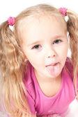 Little cute girl in studio — Stock Photo
