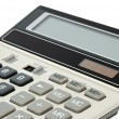 Calculator with a solar battery — Stock Photo