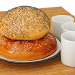 Stock Photo: Bagel and roll