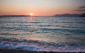 Plaży o zachodzie słońca — Zdjęcie stockowe