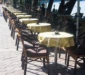 The restaurant on the coast — Stock Photo