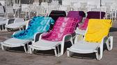 Three chaise — Stockfoto