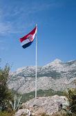 Waving flag of Croatia — Stock Photo