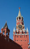 The Spasskaya and Imperial Towers of Moscow Kremlin — Stock Photo