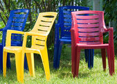 Four summer chairs — Stock Photo