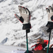 Ski gloves - Stock Photo