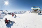 Skigebiet von cervinia, italien — Stockfoto
