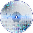 Music CD with an abstract background. — Stockvectorbeeld