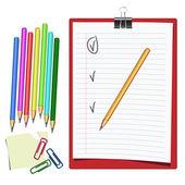 Hållare för papper och penna. — Stockvektor