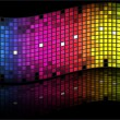 Abstract rainbow - colored vector background — Stock Vector