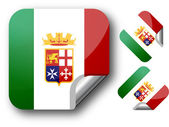 Sticker with Italy flag — Stock Vector