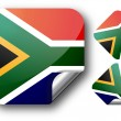 Sticker with South Africa flag — Stock Vector