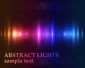 Abstract lights - gekleurde vector achtergrond — Stockvector