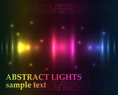Abstract lights - colored vector background — ストックベクタ