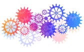 Mechanical Vector Background with Gears and Cogs. EPS10 — Stock Vector