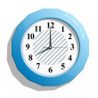 Stock vektor: Abstract glossy clock icon vector illustration.