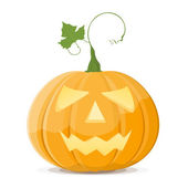 Halloween pumpkin on white background. EPS8 — Vector de stock