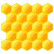 Stock Vector: Honeycomb, isolated on the white. Vector. EPS8