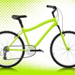 Bicycle on a white background. Vector. - 图库矢量图片